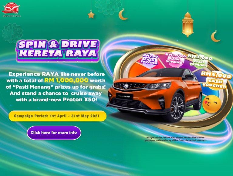 Spin Drive Kereta Raya Banner Sahajidah Hai-O Marketing